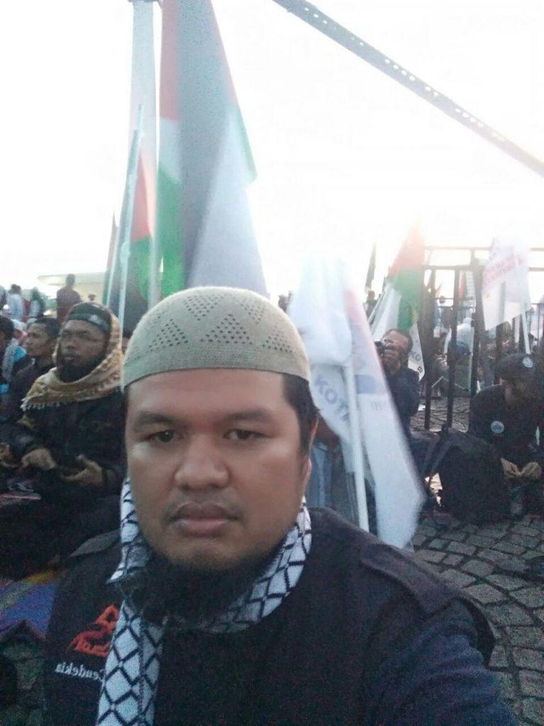 Peserta aksi bela palestine huda cendekia