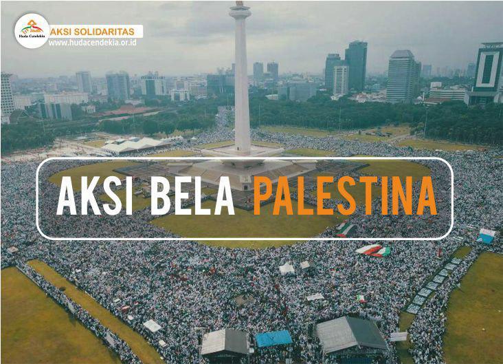 aksi bela palestina yayasan huda cendekia