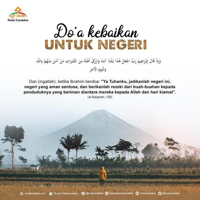 Do'a Kebaikan untuk Negeri Huda Cendekia